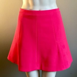 J. Crew Bright Pink Flare Skirt, Size 8! Worn once